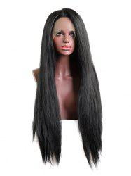 Long Free Part Straight Lace Front Synthetic Wig -