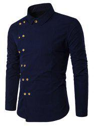 Long Sleeve Double-breasted Shirt -