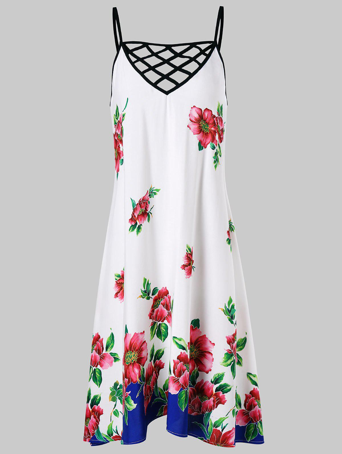 Chic Criss Cross Floral Cami Dress