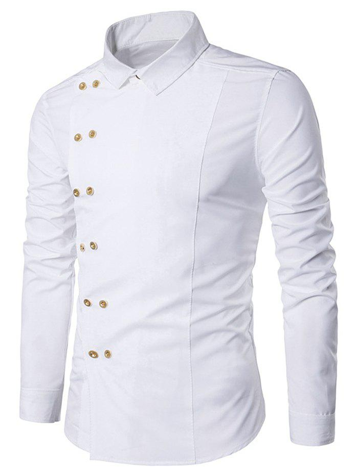 Fashion Long Sleeve Double-breasted Shirt