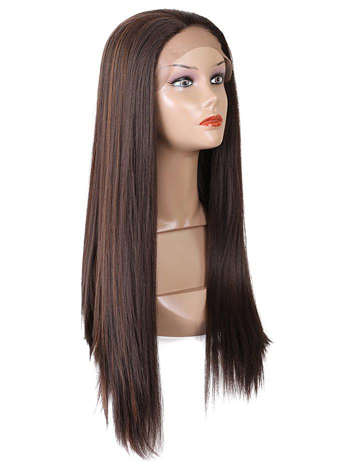 Cheap Long Free Part Straight Synthetic Lace Front Wig