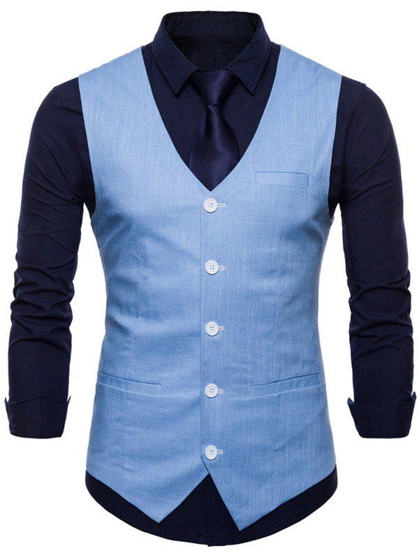 Outfit Casual V Neck Single Breasted Waistcoat