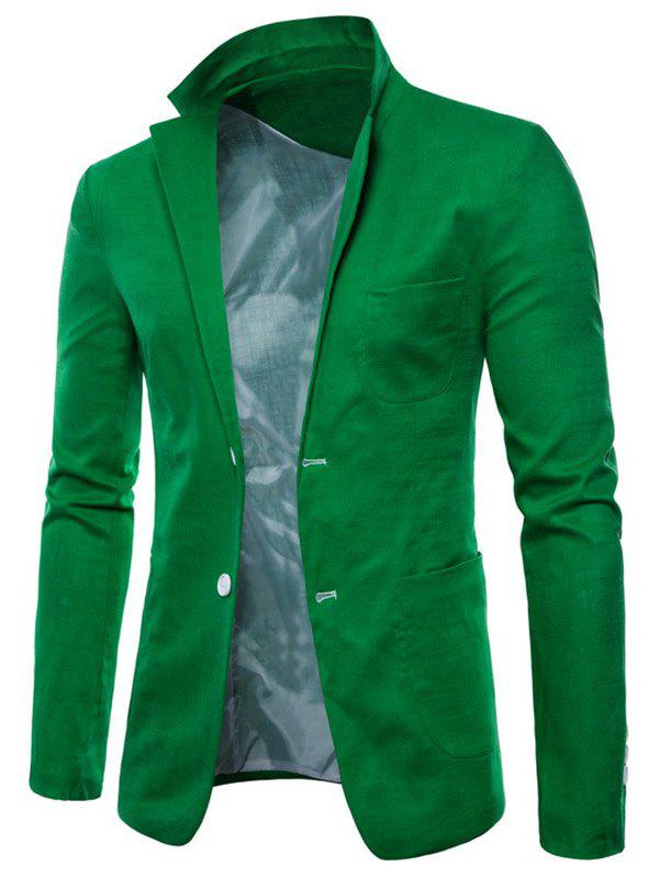 Affordable Solid Color Lapel Thin Casual Blazer