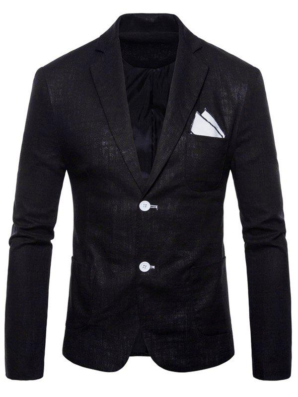 Trendy Solid Color Lapel Thin Casual Blazer