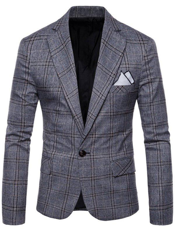 Outfits Check One Button Slim Fit Blazer