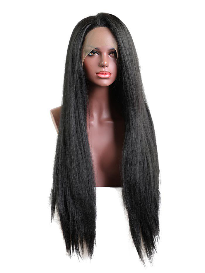 Fancy Long Free Part Straight Lace Front Synthetic Wig
