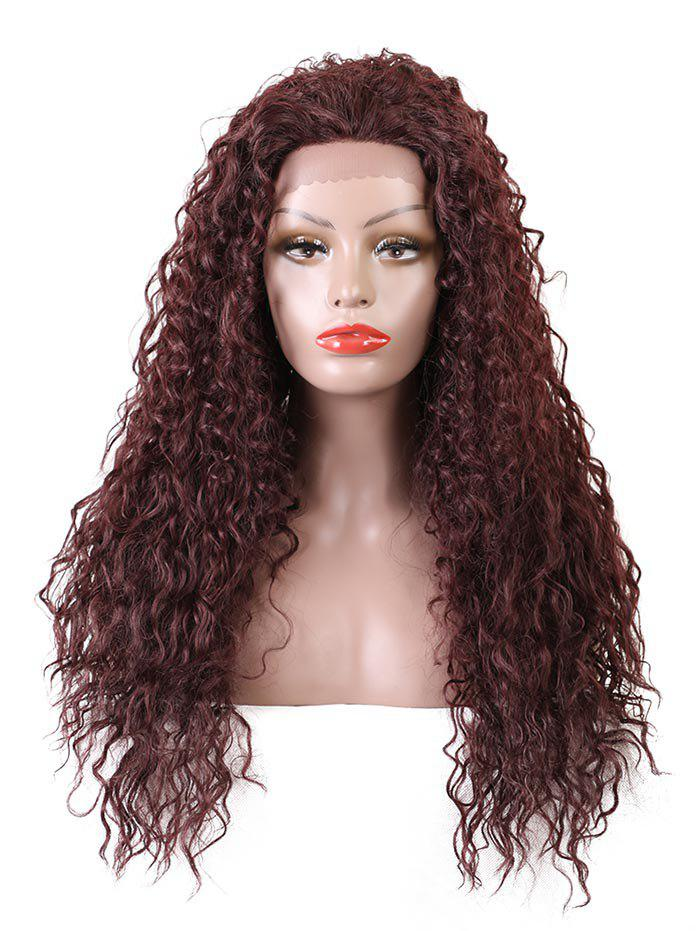 Trendy Long Free Part Water Wave Lace Front Synthetic Wig