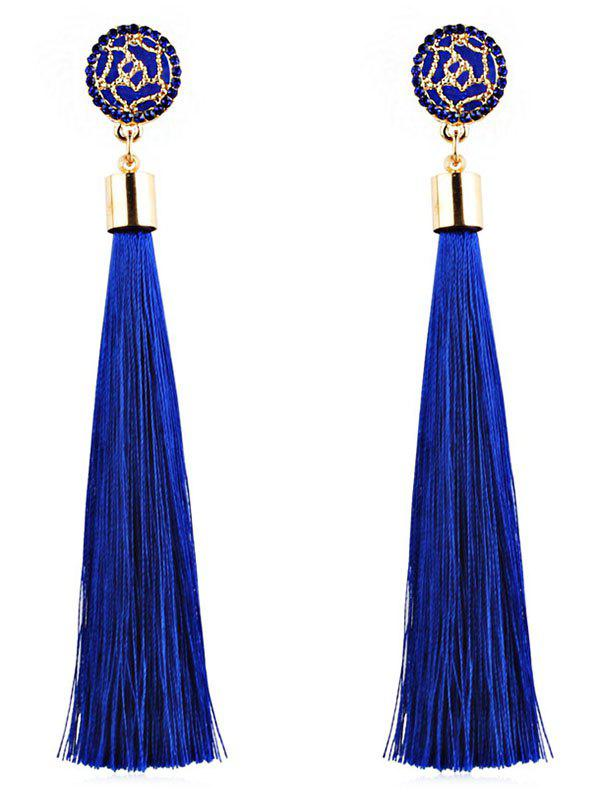 Cheap Floral Long Tassel Dangle Drop Earrings