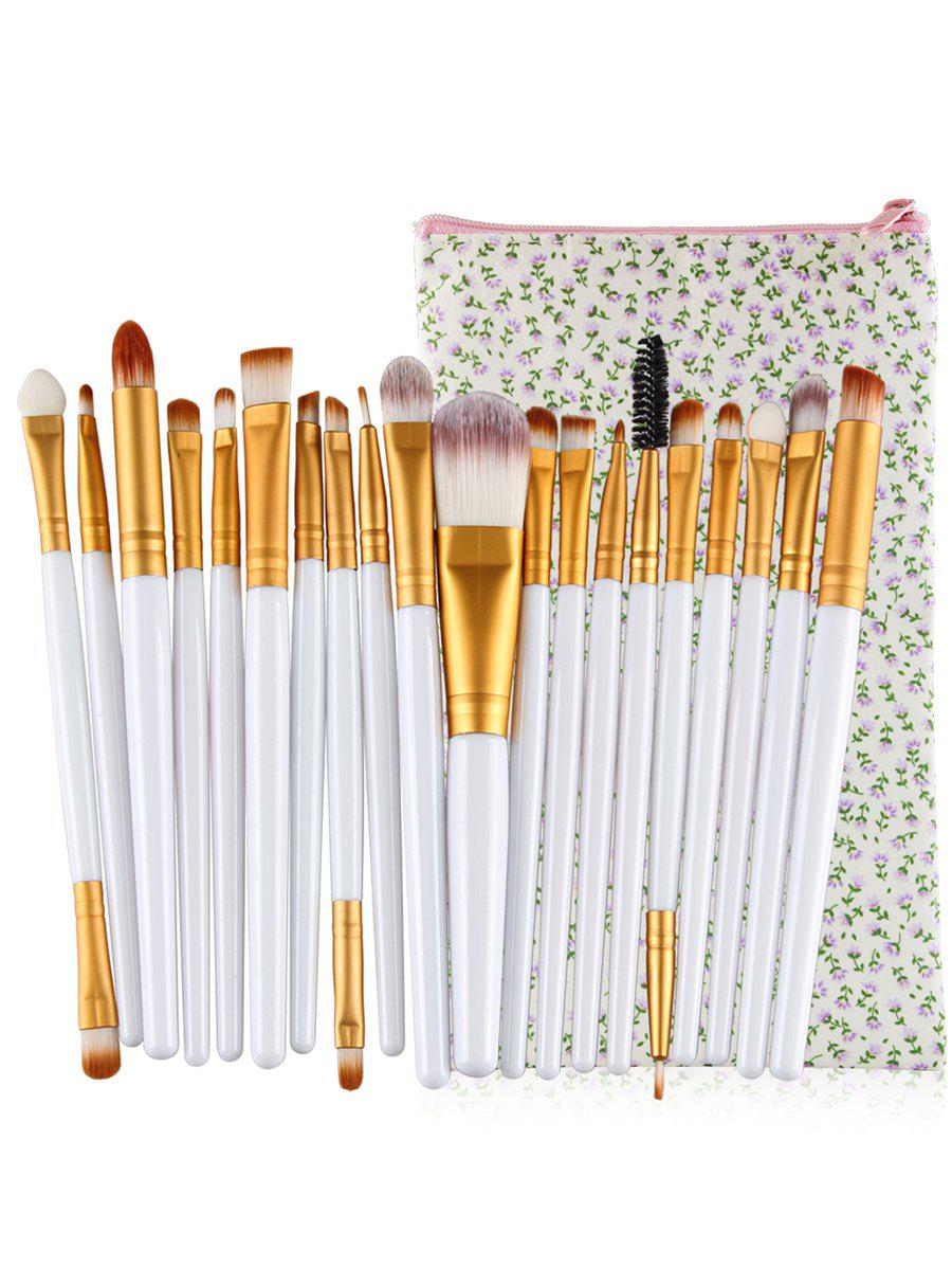Shop Set of 20Pcs Ultra Soft Foundation Eyebrow Eyeshadow Concealer Brush Collection