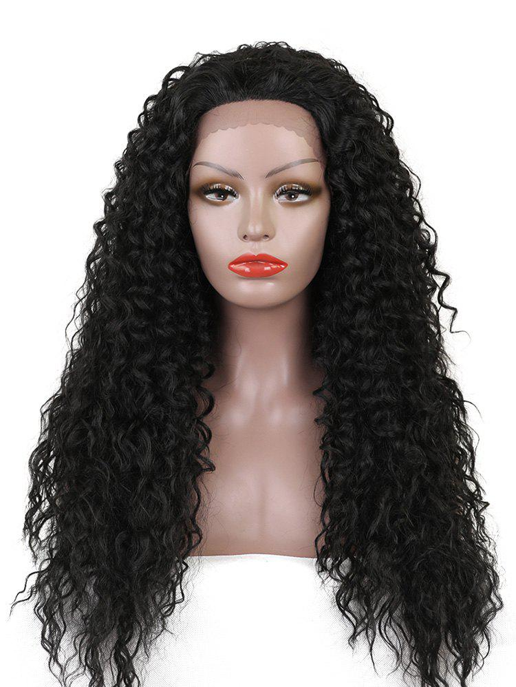Chic Long Free Part Water Wave Lace Front Synthetic Wig