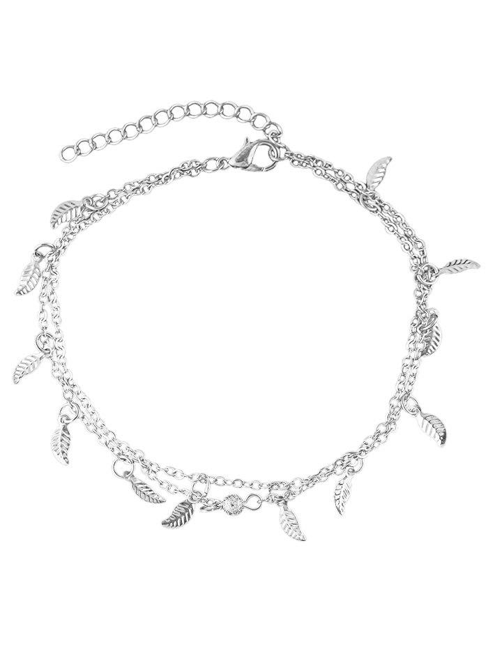 Sale Leaves Decoration Layered Chain Anklet