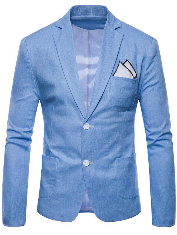 Sale Solid Color Lapel Thin Casual Blazer