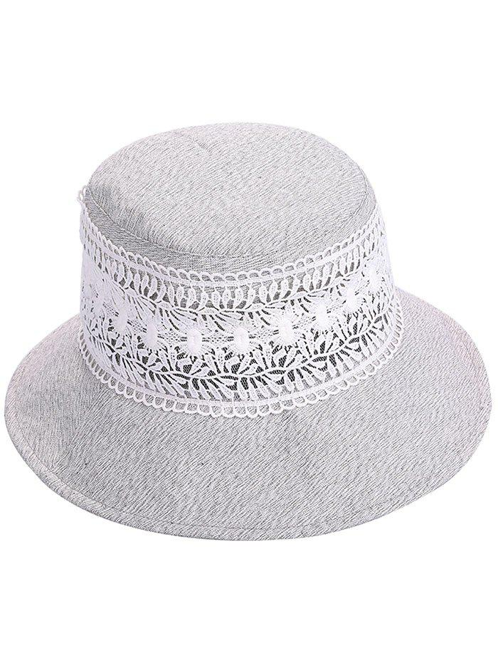 Chic Anti UV Wide Brim Lace Bucket Hat