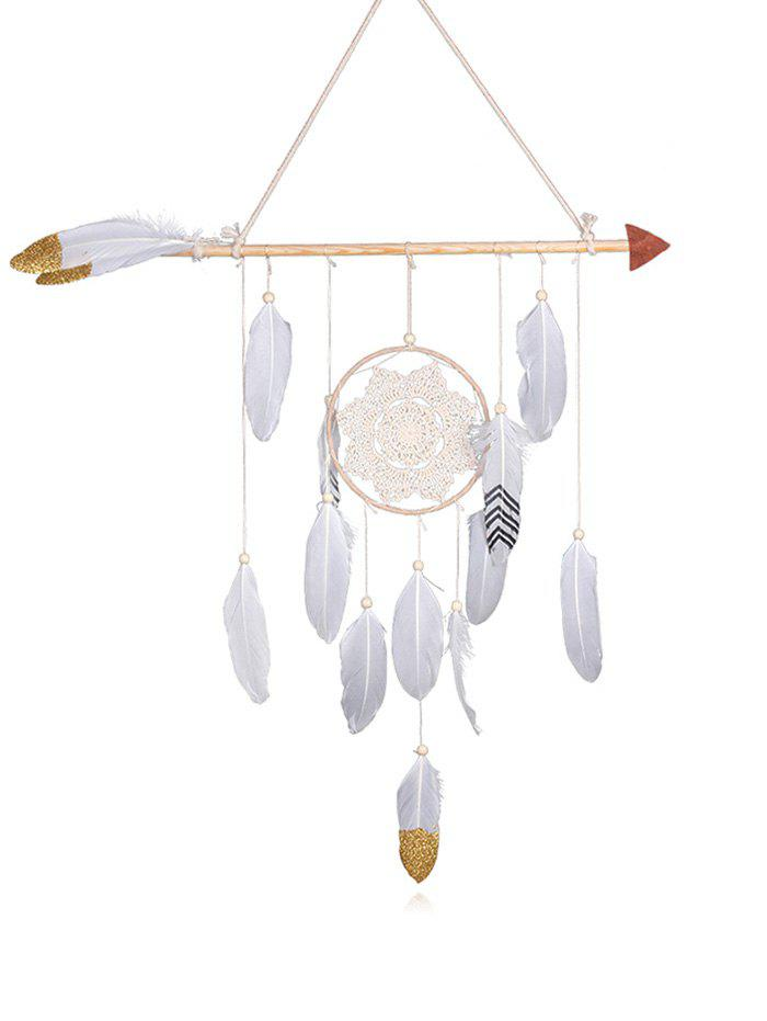 Discount Floral Lace Feather Bead Decorated Home Decor Dreamcatcher