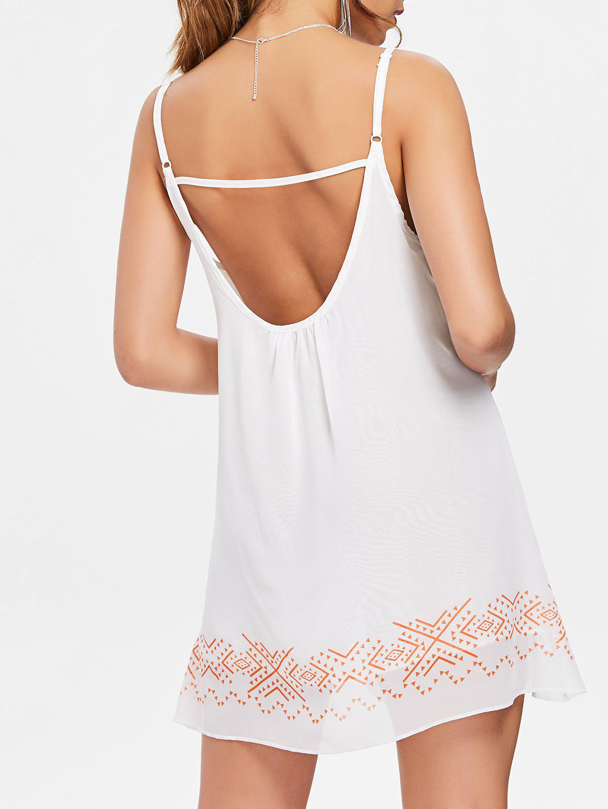 Unique Casual Backless Mini Slip Summer Sleeveless Babydoll Dress