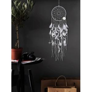 Fleur plume frangée à la main Dream Catcher Wall Decor -