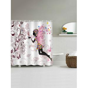 Butterfly Fairy Print Waterproof Bathroom Shower Curtain -