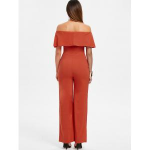 Off The Shoulder Ruffle Insert Jumpsuit -