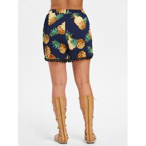Pineapple Patterned Pom Pom Insert Shorts -