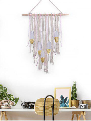 Cheap Handmade Feathers Fringed Wall Hanging Decoration
