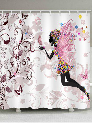New Butterfly Fairy Print Waterproof Bathroom Shower Curtain