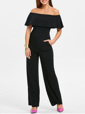 Store Off The Shoulder Ruffle Insert Jumpsuit