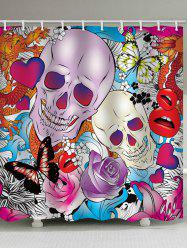 Skull Butterflies Roses Dragon Waterproof Shower Curtain -