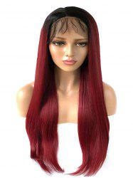 Long Free Part Ombre Straight Lace Front Synthetic Wig -