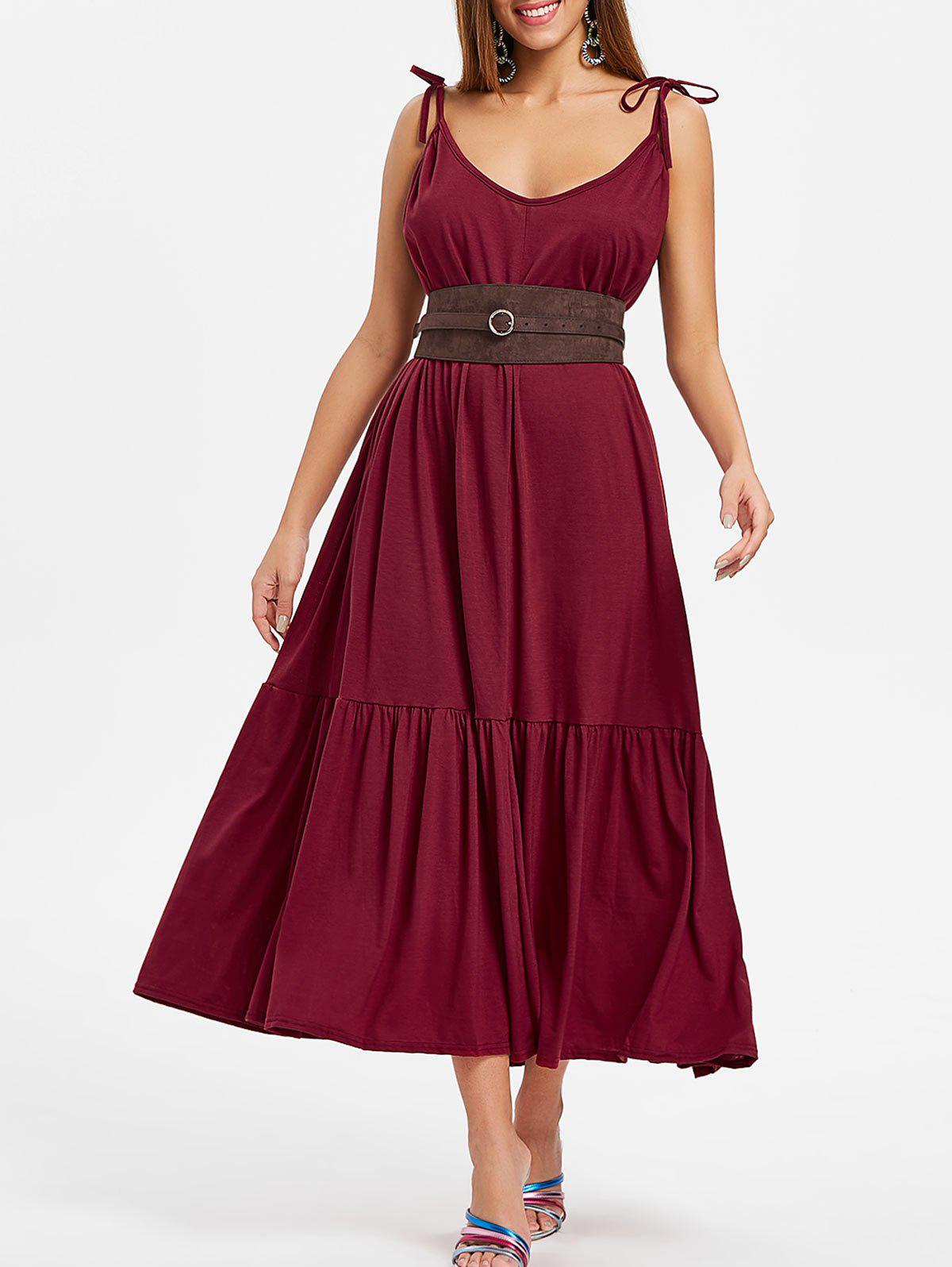 Outfit Lace Up Shoulders Floor Length Dress