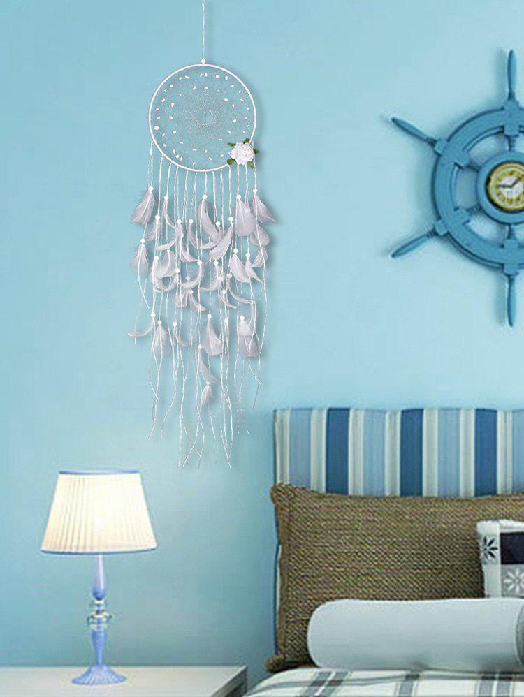 Latest Flower Feather Fringed Handmade Dream Catcher Wall Decor