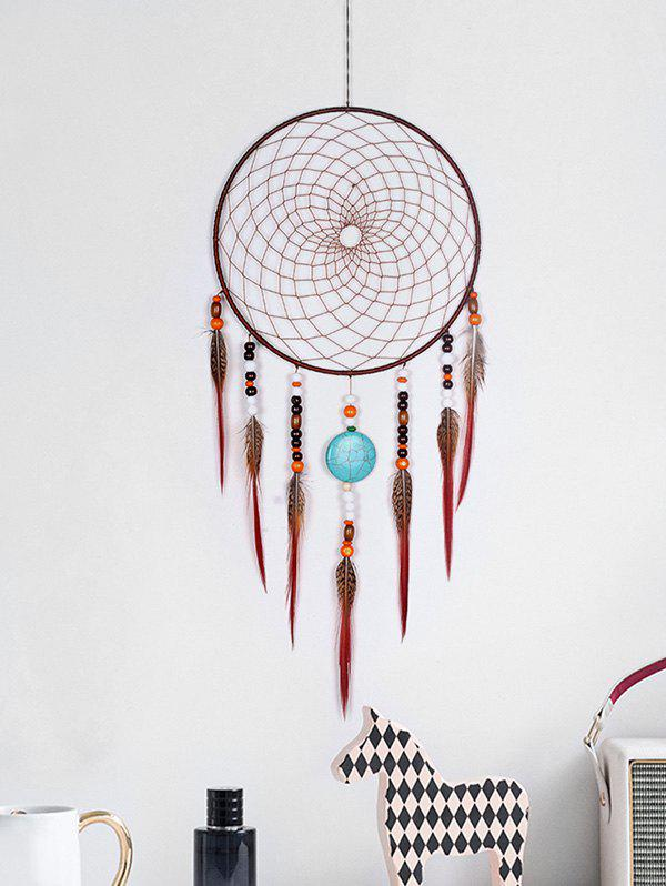 Fancy Beads Feathers Dream Catcher Wall Hanging Decoration