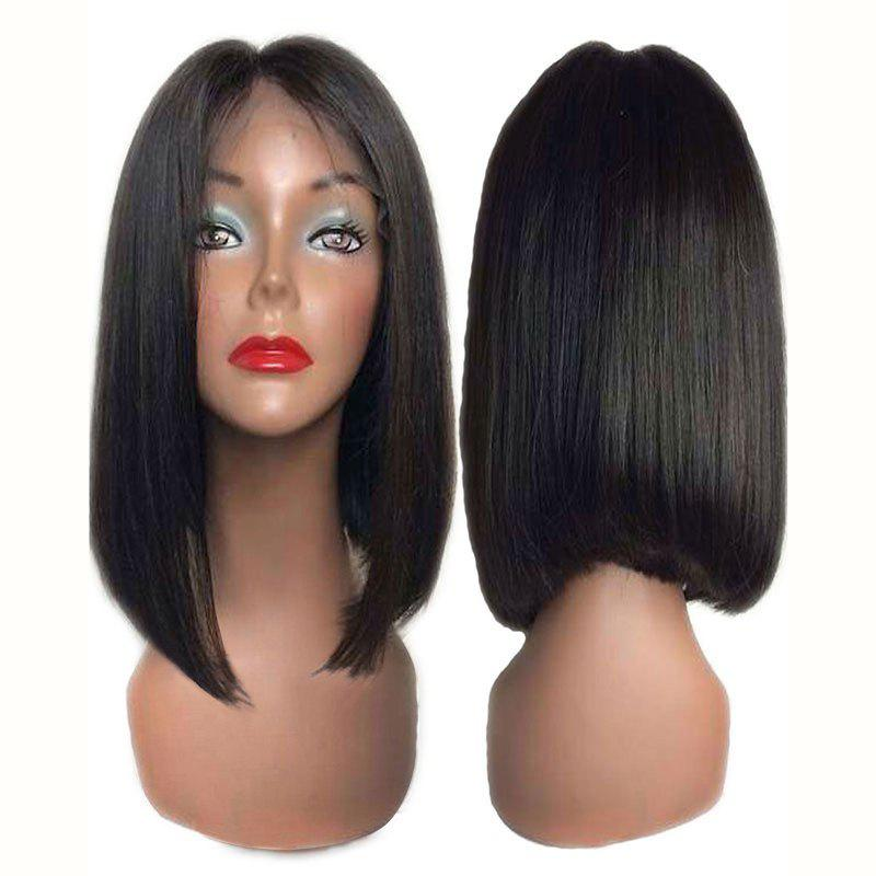 Fashion Short Center Parting Straight Bob Synthetic Lace Front Wig