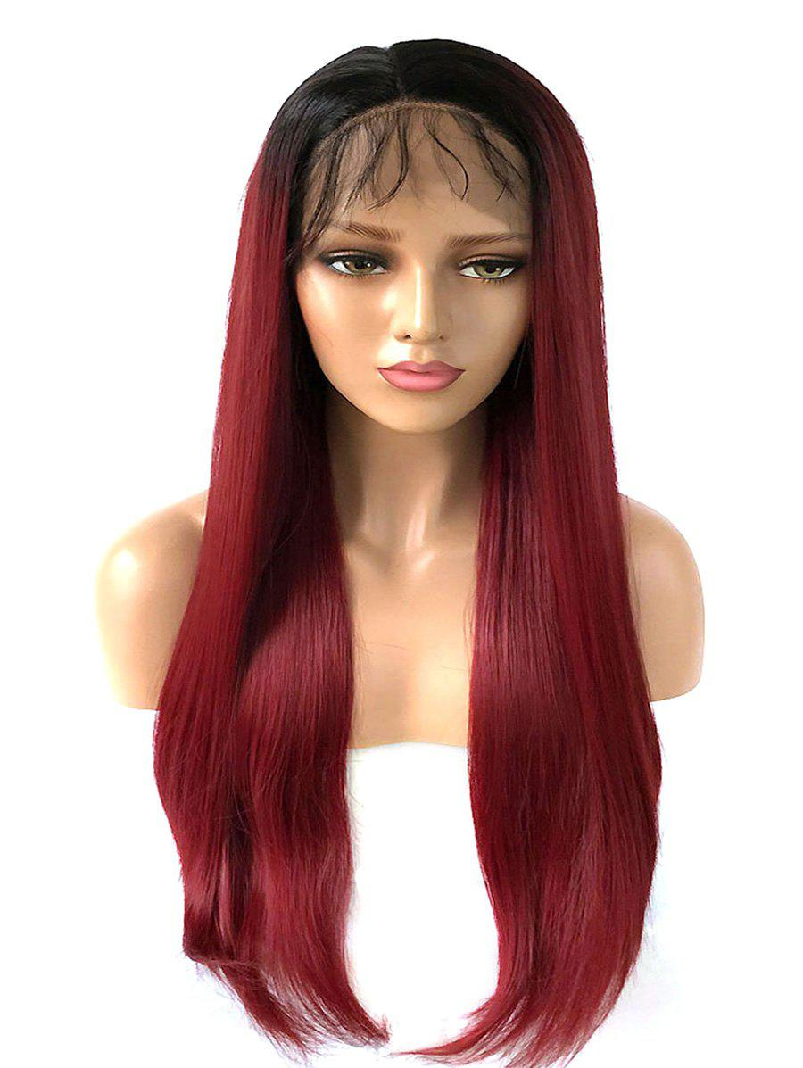 Latest Long Free Part Ombre Straight Lace Front Synthetic Wig