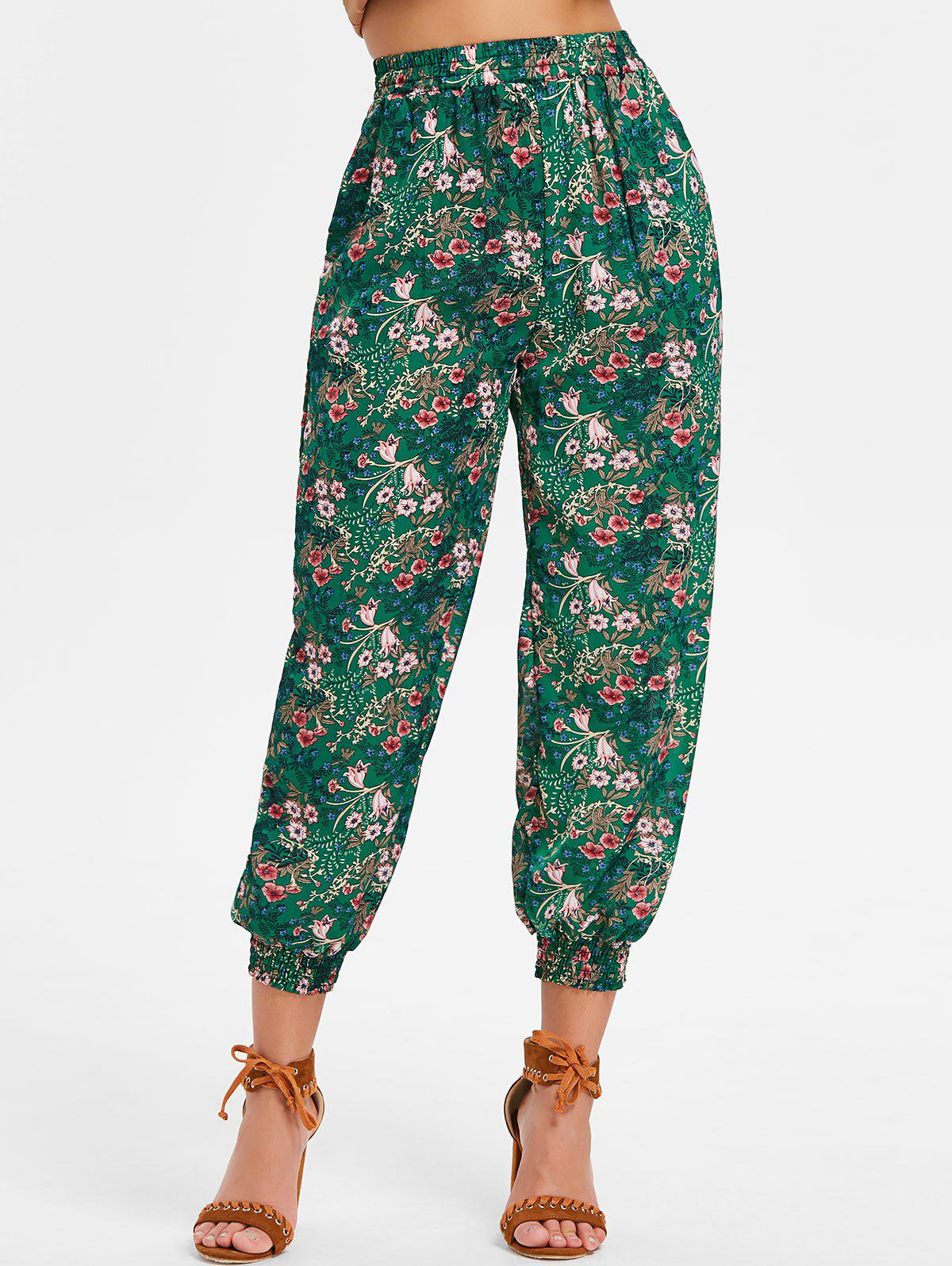 Latest Bohemian High Rise Floral Harem Pants