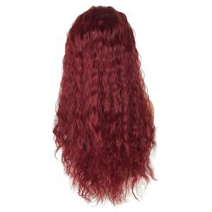 Long Free Part Gradient Water Wave Lace Front Synthetic Wig -