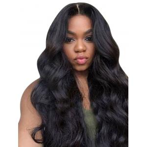 Long Center Parting Body Wave Lace Front Synthetic Wig -
