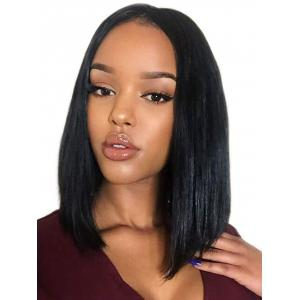 Medium Center Parting Straight Bob Lace Front Synthetic Wig -