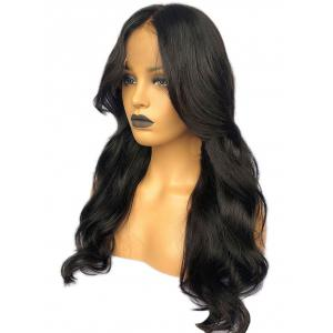 Long Middle Part Wavy Lace Front Synthetic Wig -