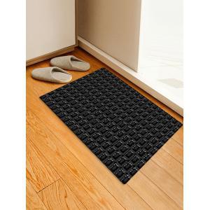Checked Pattern Flannel Skidproof Area Rug -