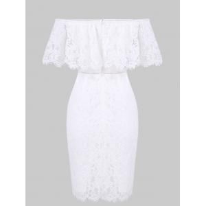 Off The Shoulder Lace Bodycon Dress -