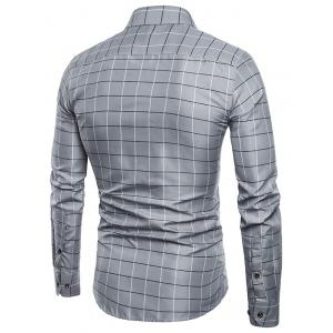 Plaid Print Single Breasted Long Sleeves Shirt -