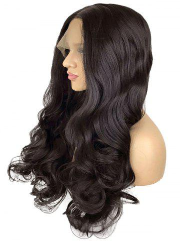 Trendy Long Center Parting Wavy Lace Front Synthetic Wig