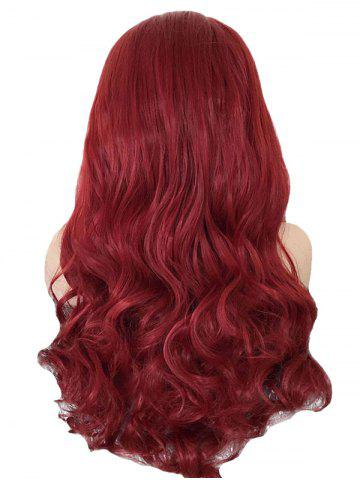 Hot Long Center Parting Wavy Lace Front Synthetic Wig