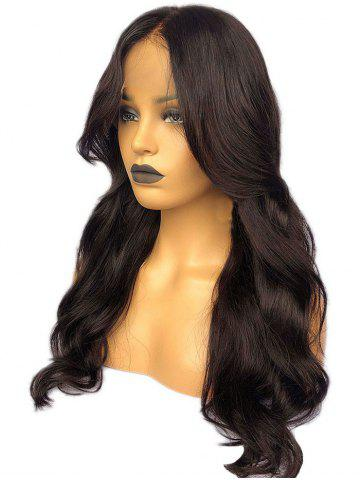 Latest Long Middle Part Wavy Lace Front Synthetic Wig