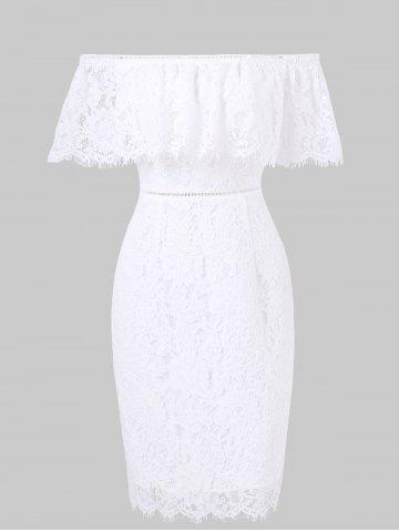 Chic Off The Shoulder Lace Bodycon Dress