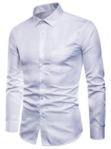 Solid Color Button Up Long Sleeves Shirt