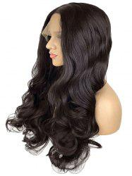 Long Center Parting Wavy Lace Front Synthetic Wig -