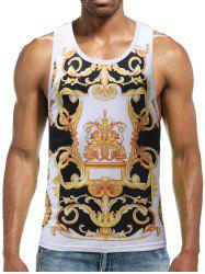 Casual Retro Boys Print Tank Top -