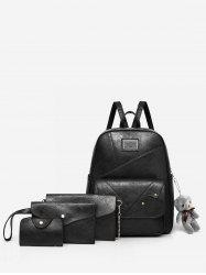4 Pieces Practical Minimalist Backpack Set -