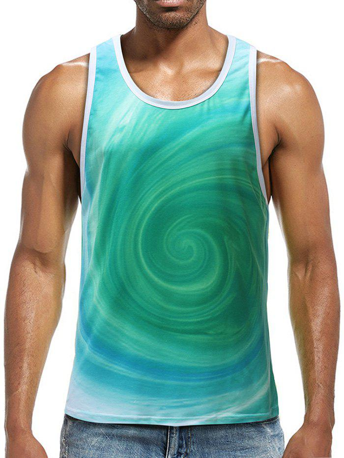 Affordable Volution Print Sports Tank Top